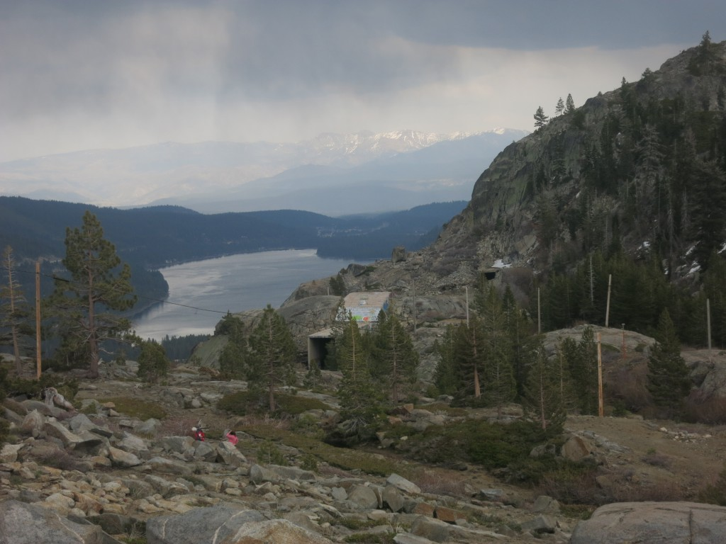 View of Summit Tunnel, Chinese Wall, & Donner Lake. Photo courtesy Sue Fawn Chung.