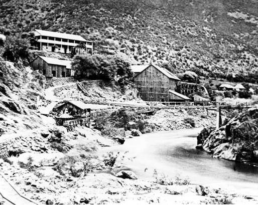 Overview of Hite's Cove, circa 1880. Photographer unknown.